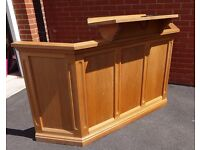 Large Light Oak Lectern/Podium/Rostrum - Good Condition - Collect in Devon