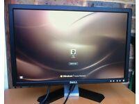 20 inch Widescreen Dell E207WPFc 19 21 LCD TFT pc computer screen Monitor with DVI and VGA