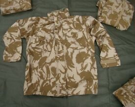 British Army Issued, Desert Pattern Goretex Jacket in Size XL