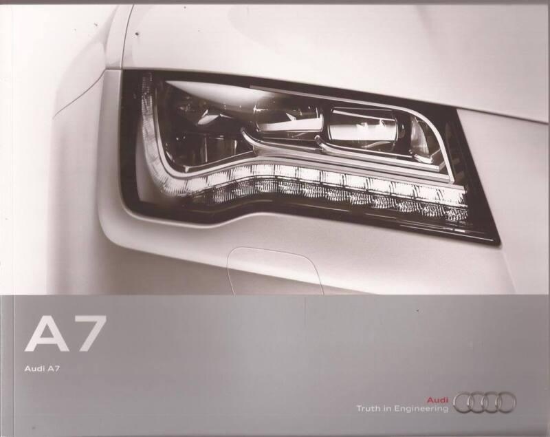 2013 13  Audi  A7 original sales  brochure  MINT