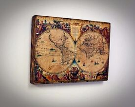 Rustic style/ World Map on the wood Personal gift, unique idea for birthday, anniversary, Handmade