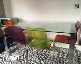 John Lewis Glass dining room table and chairs