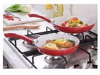 Matching🍳Set Of 2 Ceramic Frying Pans 🍳