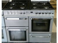 555 silver flavel 100cm dual fuel cooker comes with warranty can be delivered or collected