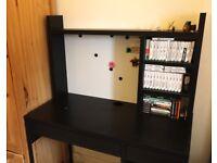 IKEA computer desk - dark brown