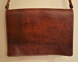 Brown Genuine Leather Laptop Bag