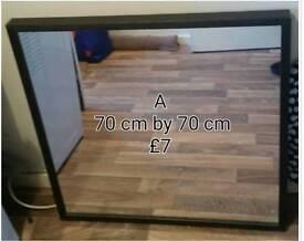 Black framed ikea mirror only £7