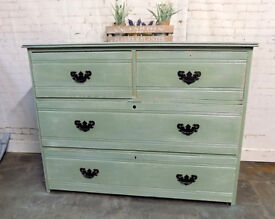 Painted Antique Chest 2 over 2 Drawers