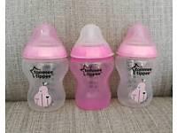Pink Tommee Tippee Bottles