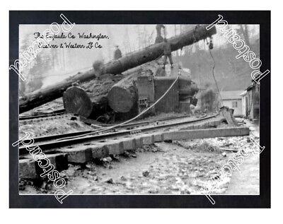 Historic The Eufaula Co. Washington Train Wreck Postcard 2