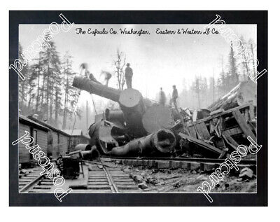 Historic The Eufaula Co. Washington Train Wreck Postcard 1