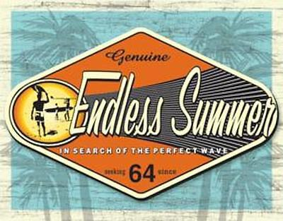 - The Endless Summer Genuine Surfing Vintage Retro Tin Metal Sign 13 x 16in
