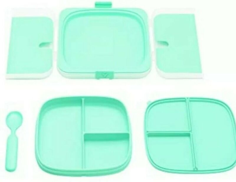 Yaytray Classic Kids/toddler Breakfast, Lunch, Dinner & snack tray (Merry Mint)
