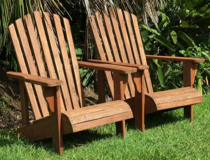 Pair of Vintage Fanback Squatters Chairs & Vintage beach chair | Lounging u0026 Relaxing Furniture | Gumtree ...