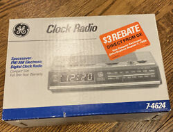 GE Digital Alarm Clock Radio AM/FM Model 7-4624 Sealed
