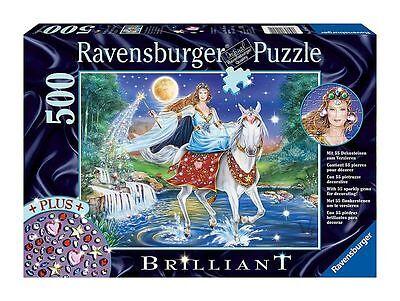 Ravensburger Puzzle Rompecabezas Hada Luz de la Luna Caballo Blanco Moho Sílfide