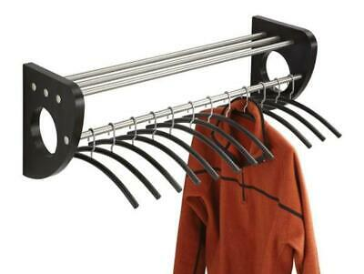 New Safco Mode Black Wood 37.5-inch Wall Coat Rack w/ Hangers - NWT ()