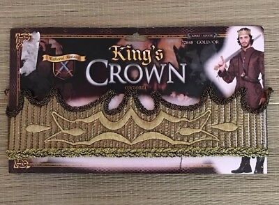 Costume Accessory Kings Crown New Stretchy Gold Adult One Size