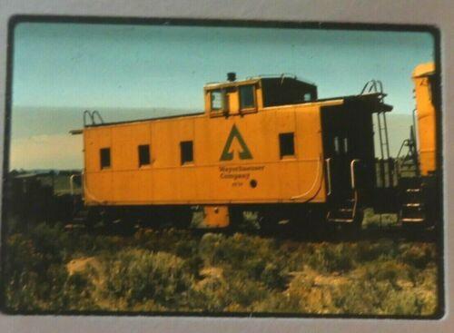 RAILROAD SLIDE WEYERHAEUSER CABOOSE #49-34, OR ca1975
