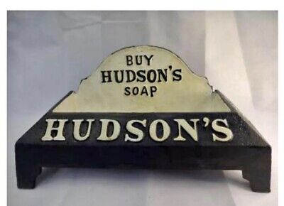 Cast Iron Hudson's Dog Puppy Soap Bowl Dish Drinking Trough
