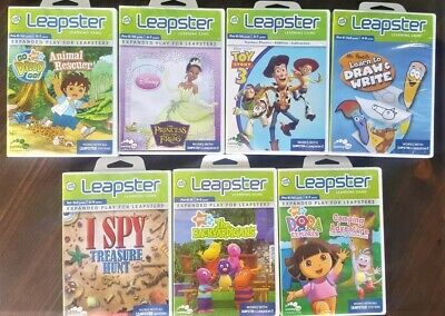 Bundle 7 Leapster Leap Frog Games for Kids ranging from 4-9 years old.   1. Eye