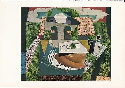 "1955 Vintage ""STILL LIFE in LANDSCAPE"" PICASSO Color Art Plate offset Lithograph"
