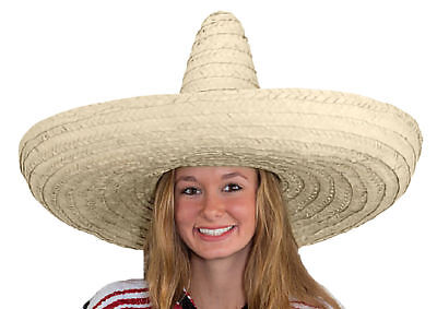 MEXICAN GIANT JUMBO ZAPATA STRAW SOMBRERO COSTUME HAT ADULT FIESTA CINCO DE MAYO](Mayonnaise Costume)