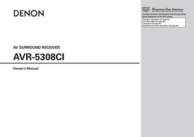 Used, Denon AVR-5308CI Surround Receiver Owners User Operating Instruction Manual for sale  Shipping to India