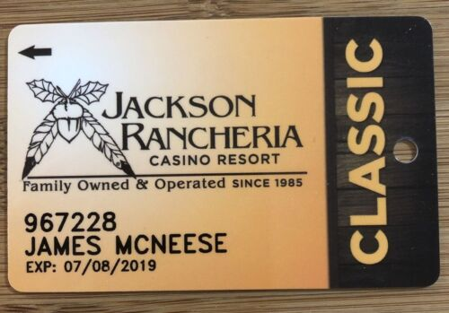 JACKSON RANCHERIA Casino Players Slot Card  Family Owned & Operated since 1985