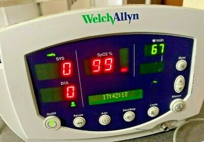 Welch Allyn Vital Signs Monitor 53nto 300 Series Spo2 Temp Nibp