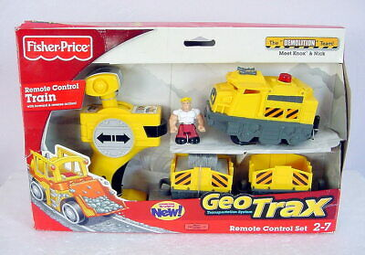 NEW Fisher Price GEOTRAX Remote Control Train DEMOLITION TEAM Set Knox Nick 2009