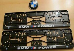 2x BMW M Power !! Kennzeichenverstärker Kennzeichenhalter Kennzeichen !! NEU