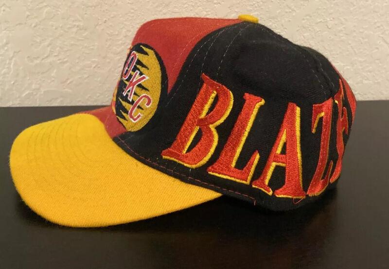 Vintage 90's Oklahoma City Blazers CHL Hockey Snapback Hat Top Of The World Rare