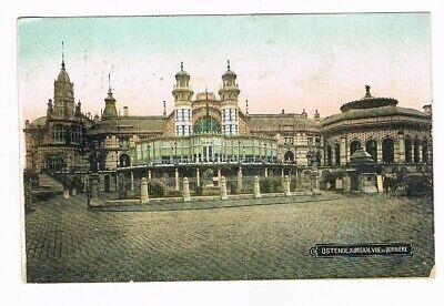 CPA coul. Ostende Kuursaal , vue de derrière - 1923