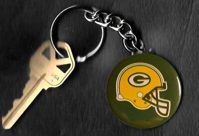 Green Bay Packers LOGO Helmet Keychain Key - Green Bay Helmets