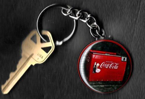 Coca-Cola Chest Machine COKE Keychain Key Chain 1960