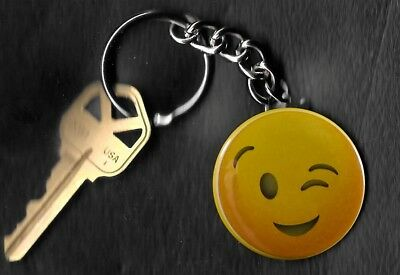Emoji Wink Keychain Key Chain](Emoji Wink)