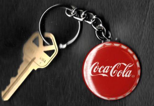 Coca-Cola Bottle Cap Red Keychain Key Chain
