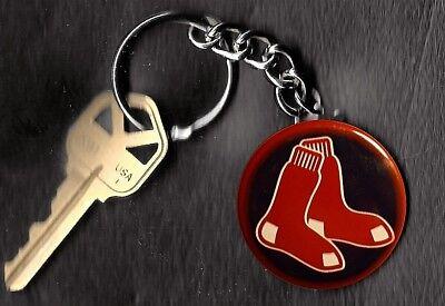Boston Red Sox Retro Sox LOGO Keychain Key -
