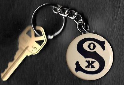 Chicago White Sox 1919 Retro LOGO Keychain Key -