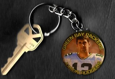 Aaron Rogers Green Bay Packers Keychain Key -
