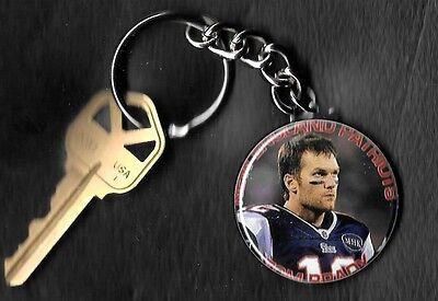 Tom Brady New England Patriots Keychain HOF Key Chain (Patriots Keychain)