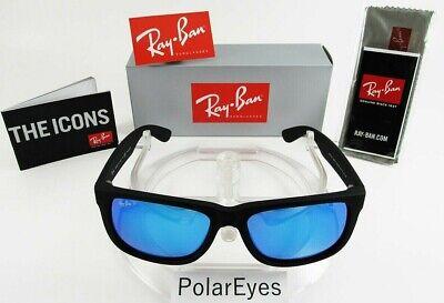 Ray-Ban Justin Classic RB4165 622/55 54mm Matte Black Blue Mirror Polarized