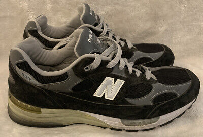 New Balance 992 Made in USA M992BK Black Grey LIMITED Size 12 GOOD!