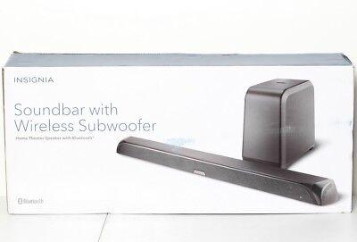 Insignia 2 1 Channel Soundbar Speaker System   Wireless Subwoofer Black Ns Sb515