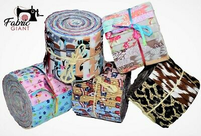Jelly Roll Design (Baby/Mini Jelly Roll 100% Cotton Quilting Patchwork Fabric, 20 Strips, 5 Designs)