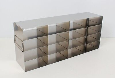 New Stainless Steel Cryogenic Upright Cryo Rack For 2 Boxes Uro-442