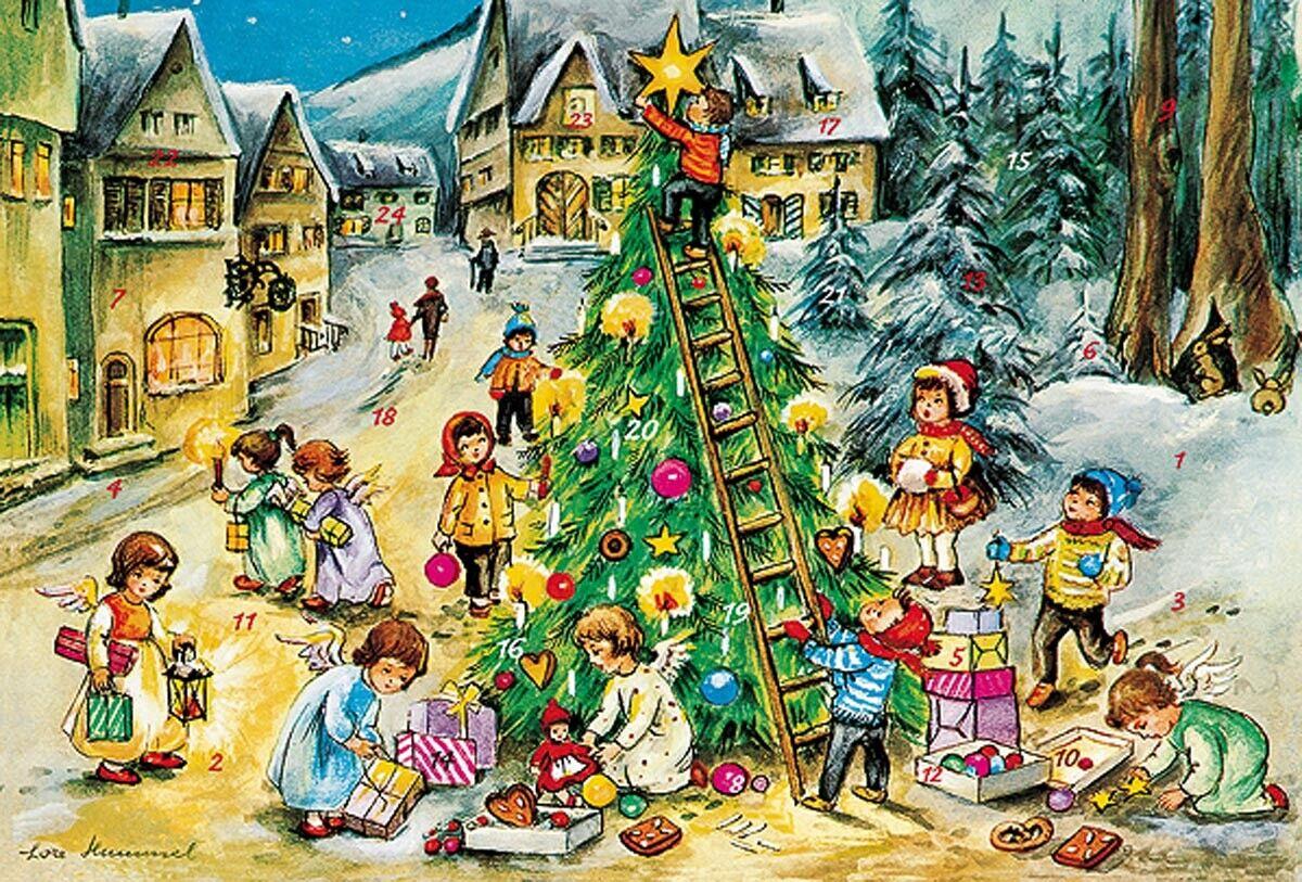 24 Rätselnüsse!! Säckchen mit 2 Raphaelengel  u Adventskalender nach Waldorf