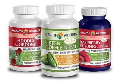 Raspberry Ketones Lean, Hoodia Gordonii, Green Coffee W/ ...
