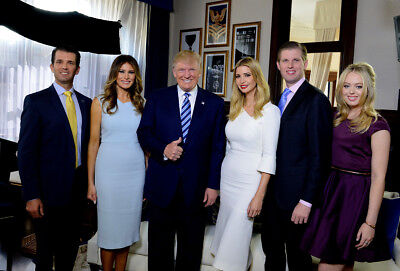 President Donald J Trump   Family 8 5X11 Platinum Gloss Photo